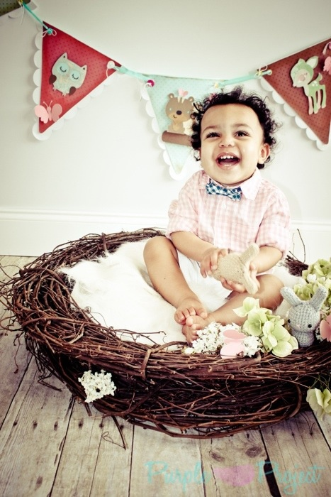 easter baby in basket